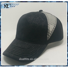 5panel customied logo with mesh baseball cap good quality