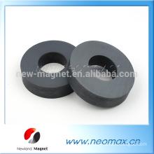 high performance large radial magnetization ferrite ring speaker magnet for sale