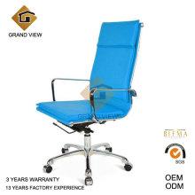 Chaise de bureau ergonomique de haute qualité en cuir bleu (GV-OC-H305)