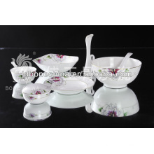 top class golden porcelain flower gold line stylish royal fine bone china ceramic dinnerware