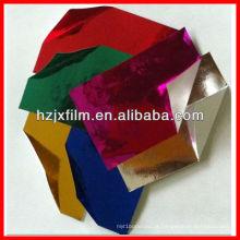 Película PET laminada com papel