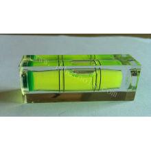 De alta precisión de acrílico transparente spuqre burbuja nivel vial, HD-YT1852