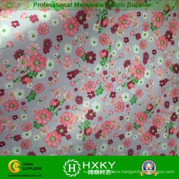 Цветок печать ткань для женщин длинные платья или рубашки