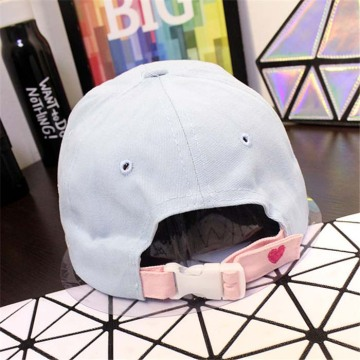 Custom Closure Hat Cotton Baseball Cap Plastic Buckle Baseball Cap