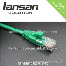 Cordon de raccordement de câble 6 utp du câble de fabrication de câbles Lansan depuis plus de 23 ans