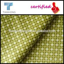 cinco satén de lycra sarga de algodón de color tejido tejido tejido estampado fresco suave sensación de la mano para el vestido de la ropa