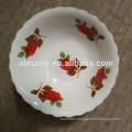 custom printed latest design white ceramic bowl