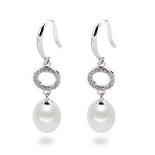 Lange Art-natürliche reale Perlen-Ohrring-Schmucksachen