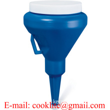 1 1/4-Quart Dark Blue Double Capped Funnel
