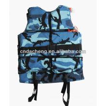 Jaqueta de segurança flutuante para defesa marítima