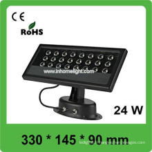 Haute qualité imperméable à l'eau 24w led plood light, haute puissance à LED