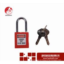 Wenzhou BAODI de acero Xenoy bloqueo de seguridad candado BDS-S8601F rojo