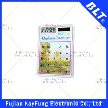 8 dígitos calculadora de tamanho de bolso transparente para promoção (BT-923)