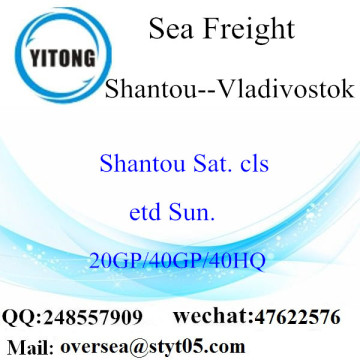 Shantou Port Sea Freight Shipping To Vladivostok