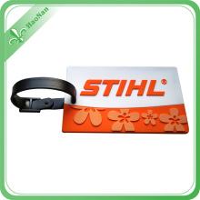 Сделано в Китае мода дизайн Выдвиженческого подарка Мягкая ПВХ оптом багажные бирки