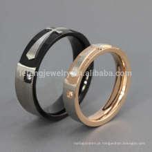Anel de declaração cruzado personalizado, anel de dedo desenha casal