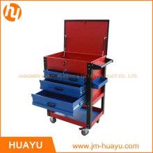 Gabinete herramienta balanceo profesional 6 cajones de chapa de 26 pulgadas, azul / rojo polvo cubierto Garage carro