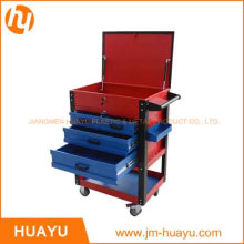26-Inch Sheet Metal Professional 6 Drawer Rolling Tool Cabinet, Blue / Red Powder Coated Garage Tool Cart
