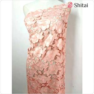 Laser cutting embroidery tulle fabric