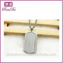 2014 оптовая alibaba прямоугольник ожерелье кулон