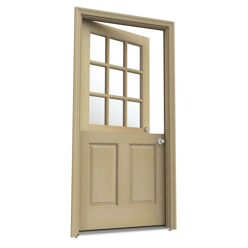3/4 Glass Solid Wood Front Door Slab