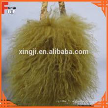 Fourrure véritable, sac d'agneau mongol