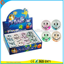 Hot Sell Kid's Toy 65mm Rubber Smiley Flashing Water Bouncing Ball