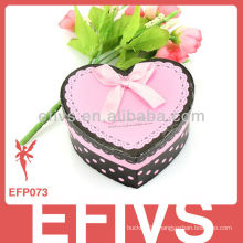 romatic sweet heart-shaped ribbon Paper jewelry gift boxes for earrings
