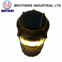 Rechargeable Portable Outdoor LED Solar Camping Lantern with Solar