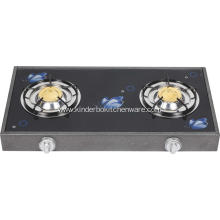 Glass Top Double Burner Gas Cooking Range