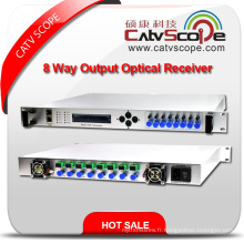 High-performance 1u 8-Way Output Head-End Return Path Nœud Optique / 8 Way Output Head-End Return Path Nœud Fibre Optique