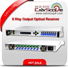 Профессиональный поставщик Высокопроизводительный 8-канальный выход 1U с обратным каналом Оптический узел / 8-канальный выход с обратной связью Волоконно-оптический узел