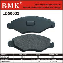 Plaquettes de frein de haute qualité (LD50003) pour voiture française