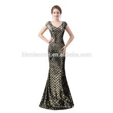 Nuevo vestido de noche de 2018 lentejuelas de diseño largo dubai con precio al por mayor