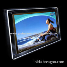 Super Slim Crystal LED Acrylic Light Advertising Box with Built-in LED Lamp Bar