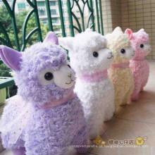 Projeto personalizado do OEM! Brinquedos do brinquedo do brinquedo do luxuoso da alpaca brinquedos enchidos dos miúdos dos animais de pelúcia para meninas
