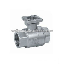 CF8 2PC Stainless Steel Water Ball Valve with ISO 5211 Direct Mounting Pad
