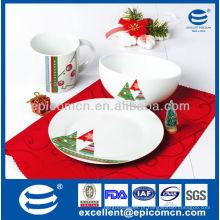 Chinaware fiestaware louça de cerâmica por atacado para o pequeno almoço das crianças