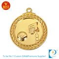 High Quality China Customized Gold Plating 3D Basketball Medal in Zinc Alloy