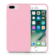 Capa de borracha de silicone líquido Pinkish Girlish iPhone8