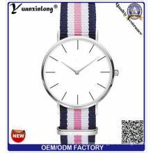Yxl-942 New Arrival Canvas Watch/Ladies′ Sport Watch/Logo Print Cheap Sliver Watch