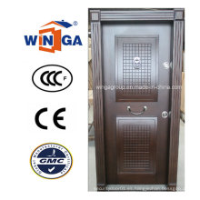 Estructura de Turquía Ventas populares Puerta blindada de madera de acero de MDF (W-T17)