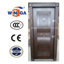 Structure de la Turquie Vente Populaire Porte blindée en bois en acier au MDF (W-T17)