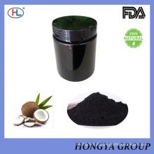Dentes ativados puros do carvão vegetal do produto comestível 100% que Whitening o carvão vegetal