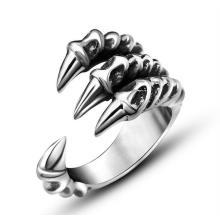 Зверь Лапой Нержавеющей Кольцо Старинные Серебряные Ювелирные Изделия
