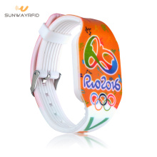 Preprinting 13.56mhz silicone rfid wristbands
