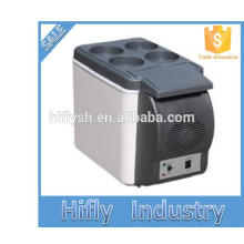 HF-600B DC 12V AC 220V portable mini hot sell car and home double use cool and hot double use car refrigerator(CE certificate)