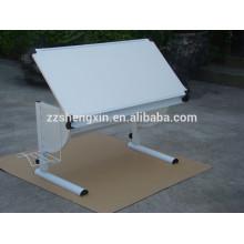Moderner moderner weißer Anstrich-Schreibtisch mit Metallrahmen für Malerei