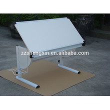 Modern Fashionable White Painting Desk with Metal Frame for Painting