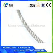 Corde en acier galvanisé en nylon revêtu 7x7